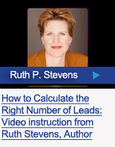 Learn how to calculate the right number of leads from author, Ruth Stevens
