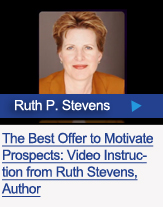 Author, Ruth Stevens talks about how to motive prospects by creating the best information
